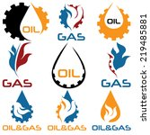 oil and gas industry design... | Shutterstock .eps vector #219485881