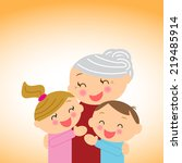 family. grandmother with...   Shutterstock .eps vector #219485914