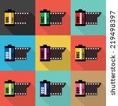 film icon. flat design. vector   Shutterstock .eps vector #219498397