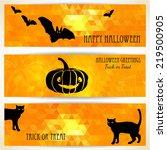 halloween banners with black... | Shutterstock .eps vector #219500905
