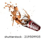 unhealthy soft drink with splash | Shutterstock . vector #219509935