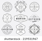 exploration vector badges and... | Shutterstock .eps vector #219531967