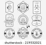 exploration vector badges and... | Shutterstock .eps vector #219532021