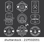 exploration vector badges and... | Shutterstock .eps vector #219532051