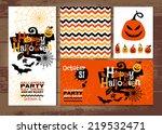 halloween background of... | Shutterstock .eps vector #219532471