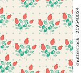 cute seamless background with...   Shutterstock .eps vector #219540034