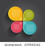 infographic templates for... | Shutterstock .eps vector #219542161