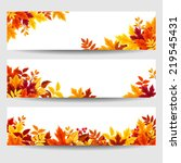 set of three vector banners... | Shutterstock .eps vector #219545431