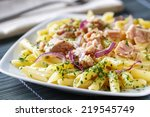 pasta with tuna | Shutterstock . vector #219545749