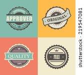 vector commercial stamps set in ... | Shutterstock .eps vector #219547081
