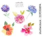 Floral Background  Watercolor...