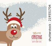 red nose reindeer santa hat...   Shutterstock .eps vector #219551704