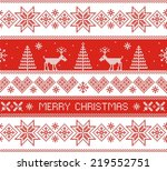 merry christmas. seamless... | Shutterstock .eps vector #219552751
