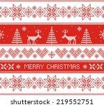 merry christmas. seamless... | Shutterstock .eps vector #219552751