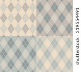 seamless argyle pattern.... | Shutterstock .eps vector #219554491