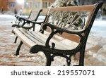 Frozen Bench  Winter Park.