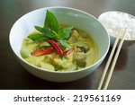 Tha     Green Curry And Rice
