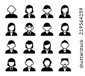 family icons and people icons... | Shutterstock .eps vector #219564259