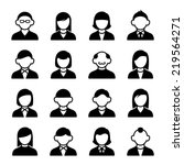 family icons and people icons... | Shutterstock .eps vector #219564271