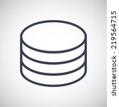 database storage symbol icon.... | Shutterstock .eps vector #219564715