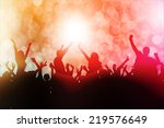 dancing people silhouettes | Shutterstock .eps vector #219576649