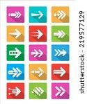 arrow icon vector modern style...