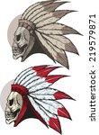 undead native american   Shutterstock . vector #219579871