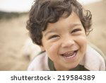 close up portrait of boy... | Shutterstock . vector #219584389