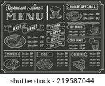 a full vector template... | Shutterstock .eps vector #219587044