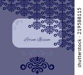 blue damask pattern invitation | Shutterstock .eps vector #219588115