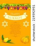 illustration of fruits hanging...   Shutterstock .eps vector #219592951