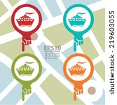 vector   colorful map pointer...   Shutterstock .eps vector #219603055