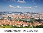 Panorama Of Prague. Top View