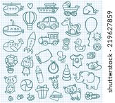 funny baby icons. vector doodle ...