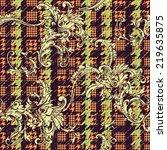 hounds tooth seamless pattern... | Shutterstock .eps vector #219635875