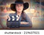 elegant diva ready for a shoot  ... | Shutterstock . vector #219637021