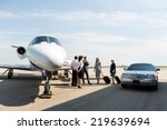 business people with pilot and... | Shutterstock . vector #219639694