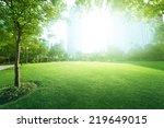 sunny day in park | Shutterstock . vector #219649015