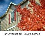 tree with full blazing autumn... | Shutterstock . vector #219652915