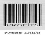 product  bar code design with... | Shutterstock . vector #219653785