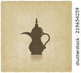 arabic coffee pot old... | Shutterstock .eps vector #219654259