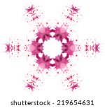 beautiful vector snowflake made ... | Shutterstock .eps vector #219654631