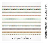 border decoration elements... | Shutterstock .eps vector #219658444