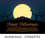 happy_halloween_background | Shutterstock .eps vector #219663751