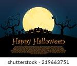 happy_halloween_background | Shutterstock .eps vector #219663751