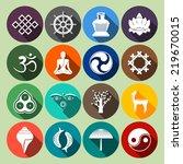 buddhism yoga oriental... | Shutterstock . vector #219670015