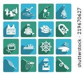 set of fish fisher hobby... | Shutterstock . vector #219670627