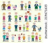 family figures icons set of... | Shutterstock . vector #219671635