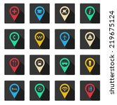set of map icons | Shutterstock .eps vector #219675124