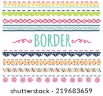 set of colorful hand drawn... | Shutterstock . vector #219683659